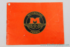 1970's Motobecane Owner's Manual: English - Red Cover