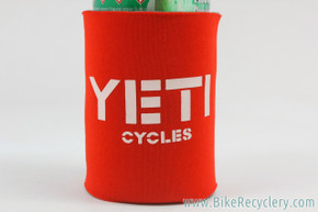 Yeti Cycles Foam Beer Koozie: Red (NEW)