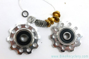 NOS Carmichael Designs (CDi) Jockey Wheels: Bullseye Alternative - Hardware - Silver