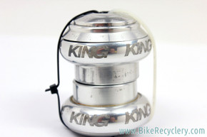"Chris King 1"" NoThreadSet Threadless Headset: Silver (EXC+)"