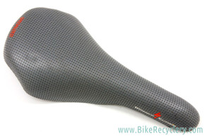NOS 1993 Specialized S-Works Team Ti Saddle: Perforated Grey Leather (take-off)