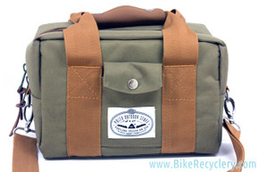 Polar Outdoor Stuff Classic Camera Cooler Basket Bikepacking Bag: Olive & Tan - Handmade in PDX (NEW)