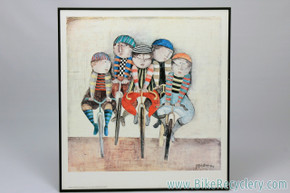 "Graciela Rodo Boulanger ""Tour De France"" Artwork: 1976 Print - Framed"