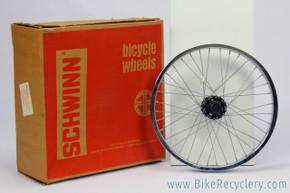 "NIB/NOS Schwinn S2 20"" Front Wheel w/ ACS Black Hub: 36H - 1970's - #85 047 - Predator / Sting"
