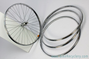"NOS 1970's Schwinn Approved Steel 26"" Rear Wheel (85-508) + 3 26"" Rims (S-7 & Araya): 36H"
