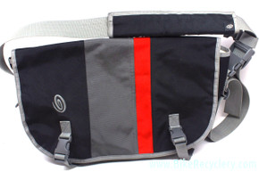 Timbuk2 Custom Classic Commuter Messenger Bag: L/XL - Black/Grey/Red - Laptop LoveGlove - Custom Pockets (new 2nd w/damage)