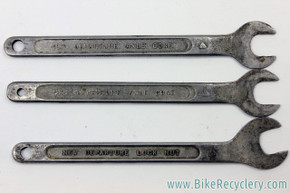 New Departure Axle Cone  (D-191) & Locknut (D-191) Wrench Set: 3 Piece -1940's / 1950's