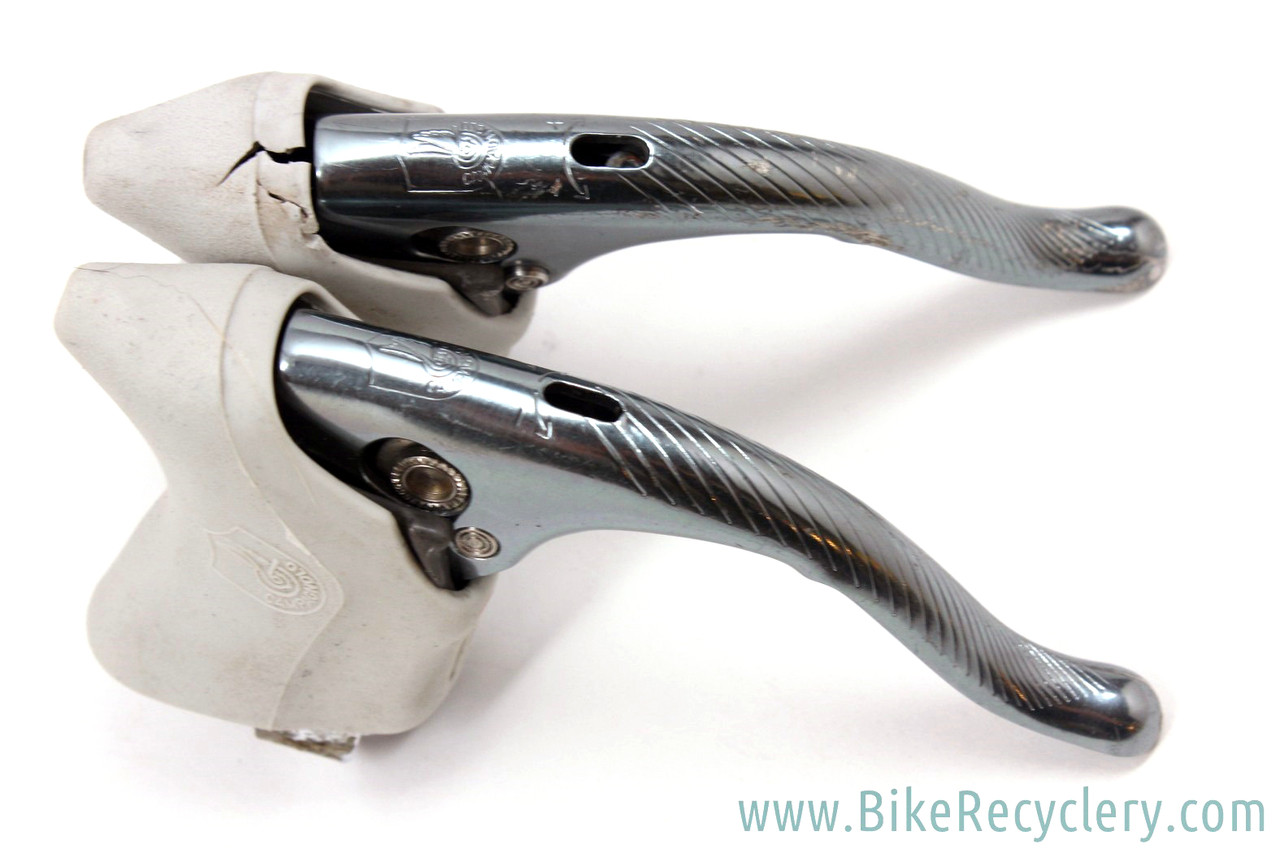 BRAKE LEVER HOODS PAIR WHITE BIKE VINTAGE FIXIE ROAD RUBBER CAMPAGNOLO SHIMANO