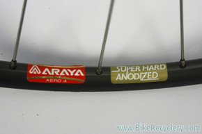 NOS Araya ADX-4 Aero 650c Tubular Front Wheel: 28H Radial - Nuovo Record Low Hub & QR  - Super Hard Anodized Dark Grey