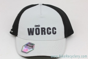 W.O.R.C.C (Women's Off-Road Cycling Congress) Snap-Back Trucker Hat: Black/White (NEW)