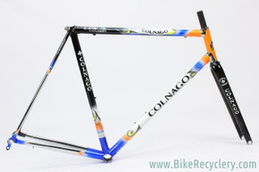 2000's Colnago Master Lux Frame/ Force Carbon Fork: 57cm - Blue/Orange Art Decor (Almost New Trainer Miles Only)