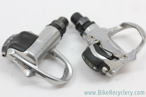 Campagnolo Record Titanium Pro-Fit Pedals: Silver - 270g (Near Mint)