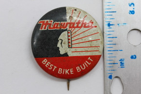 "Hiawatha Cycles ""Best Bike Built"" Pin: Pre-War 1930's 1940's"