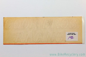 NOS Cook Bros Racing Number Plate Water Transfer Decal: Old School BMX 1970's 1980's