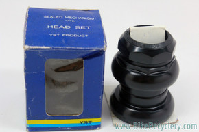 "NIB/NOS YST Evolution 1 1/4"" Threaded Headset: Black - Sealed - 1990's Retro MTB"