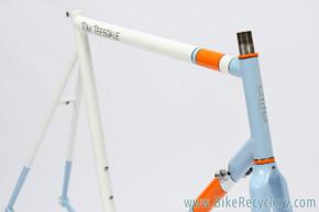 Tom Teesdale TET Cycles Road Frame: 58cm -Reynolds 853 Steel - Blue/Orange/White - (EXC+)