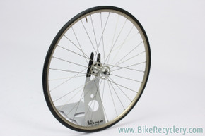 "27"" Campagnolo Record / Assos Aero V Rear Pista Wheel: 32H x 120mm - Tubular - Continental Podium (Near MINT+)"