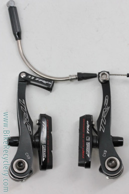 TRP CX-9 Linear Pull V-Brake: CNC Titanium - Black - Cyclocross (almost new)