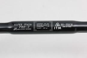 NIB/NOS ITM Super Italia Pro-2 Drop Handlebars: 43cm x 25.8mm - Black Ano