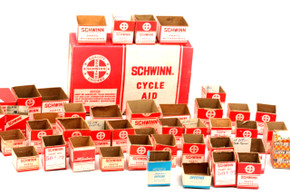 Schwinn Cycles Parts & Accessories Empty Box Lot: 45ct - Vintage 1960's 1970's