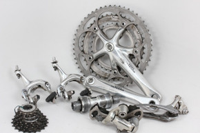 Shimano Ultegra 6503 Triple + Dura Ace 7700 9sp Groupset: 7pc - FC/BB/RD/FD Braze/BR/CS