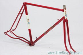 1938 Hetchins Brilliant Frame & Fork: Fresh Restoration - 57cm - Vibrant Curly Stays - Maroon - Pre War - Unbuilt Show Worthy