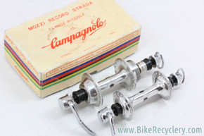 NIB/NOS Campagnolo Nuovo Record Strada Low Flange Hubset: 32H - 126mm - Curved Blade QR's