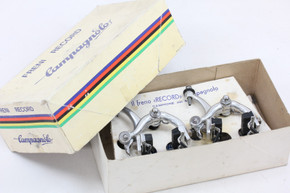 NIB/NOS Campagnolo Nuovo Record Brakeset: 2040/1 - Short Reach - Nutted - Pair of Calipers