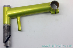 Handmade Steel Quill MTB Stem: Canti Hanger Cable Stop - 150mm x 25.4mm - Green
