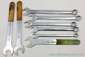 Schwinn Approved SAE Open End & Cone Wrench Set: 8 Count