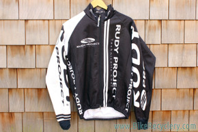 Project Rudy Softshell Cycling Racing Jacket: Black/White - Fall/Spring - Small/Med