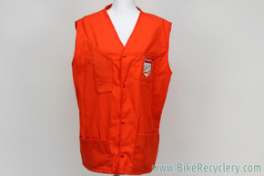 Schwinn Shop Mechanic's Vest: Large / XL - Red - Vintage 1960's 1970's