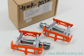 Soma Hellyer Track Pedals: Neon Orange - 249g (NEW)