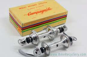 NIB/NOS Campagnolo Nuovo Record Strada Low Flange Hubset: 36H - 126mm - Curved Blade QR's