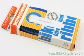 NOS/NIB Ambrosio Bike Ribbon Professional Bar Tape: Faux Leather - Blue