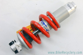 NOS Vintage GT LTS Rockshox Deluxe (DLX) Coil Rear Shock: 700lb - RED Spring - No Trunnion - 1998 - Silver