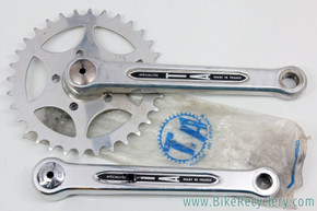 T.A. Pro 5 Vis Tandem Captain Crankset: 170mm - BSA - 32T Crossover Chainring - Dust Caps  (NM & NOS)