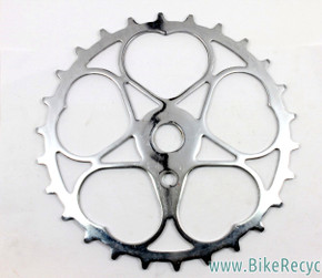 NOS Schwinn Sweetheart Skiptooth Sprocket / Chainring: 26t - 1940's - Chrome