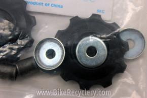 Shimano Jockey Wheels / Derailleur Pulleys: 10t - Black (pair, New)