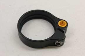 KCNC SC11 Seatpost Clamp / Collar: 35.6mm (for 34.9mm) - Black & Gold - 14g (NEW)