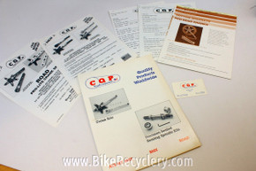 CQP / Cook Brothers Racing Literature: Catalogs / Gary Cook Business Card / Price Lists