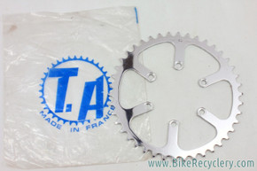NOS/NIB Vintage Specialties TA Cyclotouriste Pro Vis 5 Inner/Middle Chainring: REF 2082 - 42t
