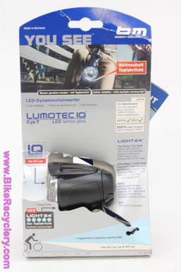 Busch + Müller Lumotec IQ Cyo T Senso Plus Dynamo Headlight: Black - 60 LUX (NEW)