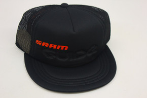 SRAM Guide Snapback Trucker Hat: Black & Red (NEW)