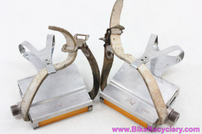 Phil Wood California Highway Patrol (CHP) Pedals: Galli Clips - Avocet Straps 1970's (Near MINT)