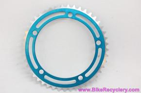 Campagnolo Nuovo Record 806/BMX Chainring: Blue - 45t x 144mm - RARE