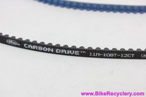 Gates Carbon Drive Belt: 11M--108t-12CT Blue - Centertrack (New)