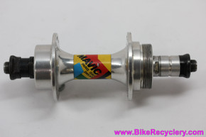 Mavic Paris Gao Dakar Rear Hub: 32H x 135mm - #536 - Silver - RARE 1980's Ephemera