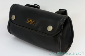 Vintage ESPRIT Handlebar / Saddle Bag: Black Faux Leather (EXC)
