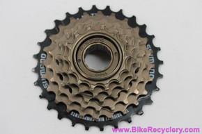 NOS Shimano 6 Speed Freewheel: MF-TZ06 - 14-26t - Gold/Black
